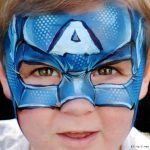 capitan america face painting milano